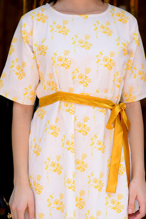 Yellow & White Floral Dress