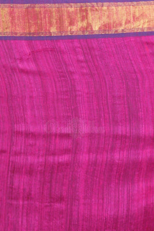 Hot Pink Matka Silk Saree With Woven Designs Kriti Classics Roopkatha - A Story of Art