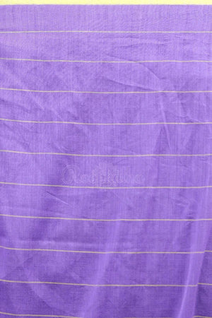 Soft Purple Cotton Saree With Checkered Design Cotton Threads Of India Roopkatha - A Story of Art