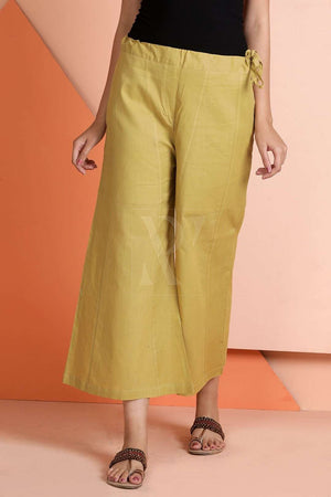 Beige Cropped Pants Rivka Roopkatha - A Story of Art