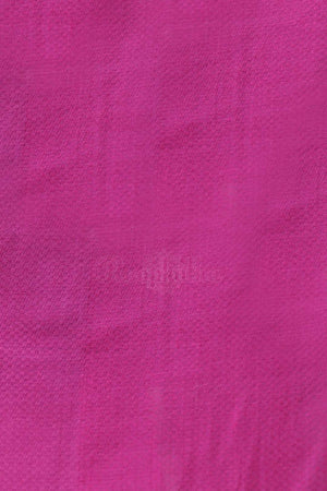 Fuchsia Cotton Saree With Plain Design Cotton Threads Of India Roopkatha - A Story of Art