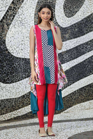 Multicolor Sleeveless Kurta