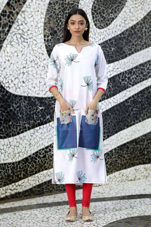 White Long Kurta