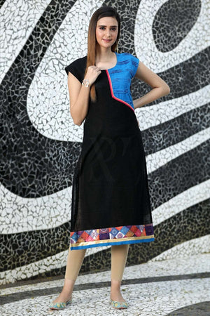 Black Regular Fit Kurta