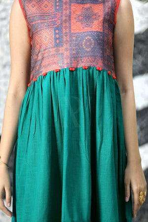 Teal Blue Sleeveless Tunic