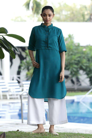 Blue Layered Kurta