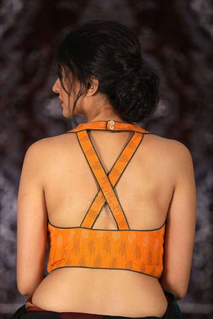 Orange Cotton Designer Blouse Blouse Roopkatha - A Story of Art
