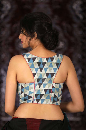 Multicolored Modal Satin Designer Blouse Blouse Roopkatha - A Story of Art