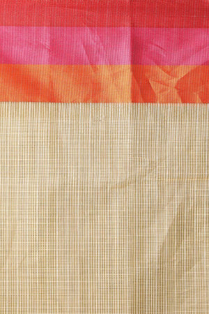 Varanasi Cotton Saree With Panel Border