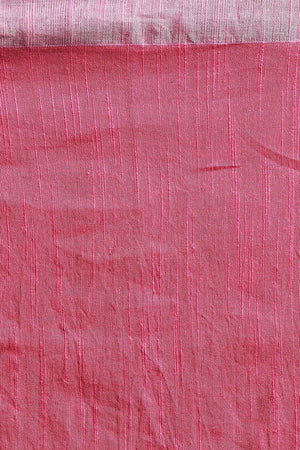Pink Pure Cotton Saree With Zari Border Cotton Threads Of India Roopkatha - A Story of Art