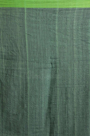 Green & Blue Striped Blended Cotton Saree Akasha Roopkatha - A Story of Art