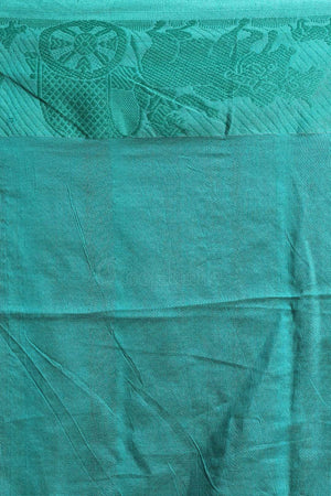Tiffany Blue Cotton Saree With Woven Border Cotton Threads Of India Roopkatha - A Story of Art