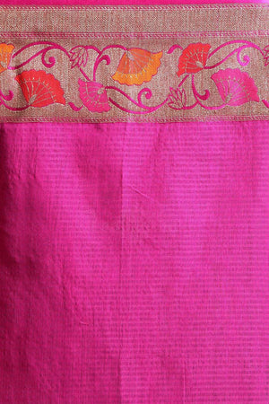 Beige Tusser Silk Saree With Zari Work