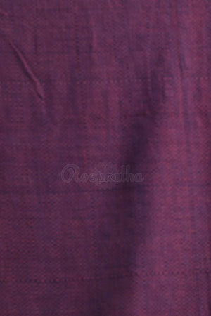 Punch Pink Cotton Saree With Texture Cotton Threads Of India Roopkatha - A Story of Art