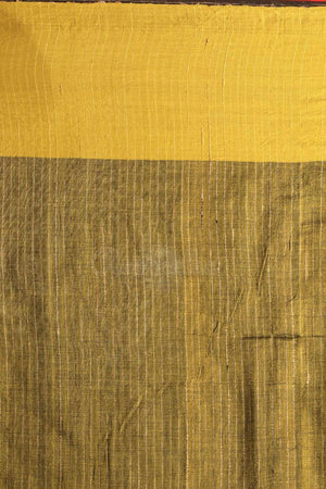 Brown Cotton Ghicha Saree With Plain Border