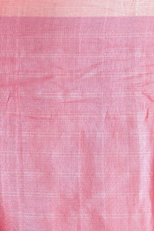 Baby Pink Pure Cotton Saree With Zari