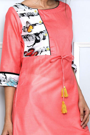 Pink Long Sleeve Kurta
