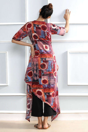 Multicolor Wrap kurta Rivka Roopkatha - A Story of Art