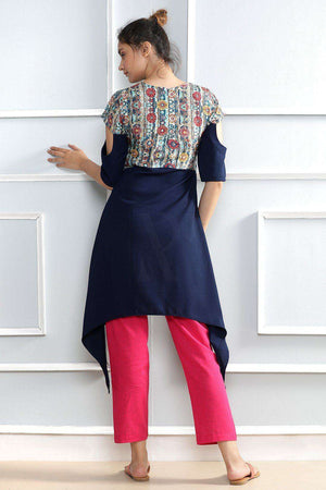 Blue Kurta With Prints Rivka Roopkatha - A Story of Art