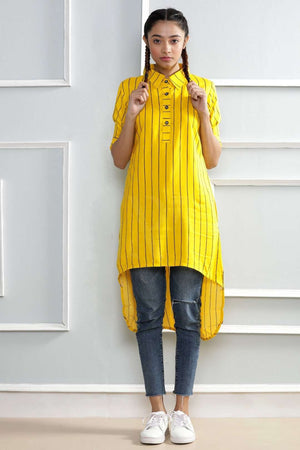 Bright Yellow Kurta Rivka Roopkatha - A Story of Art
