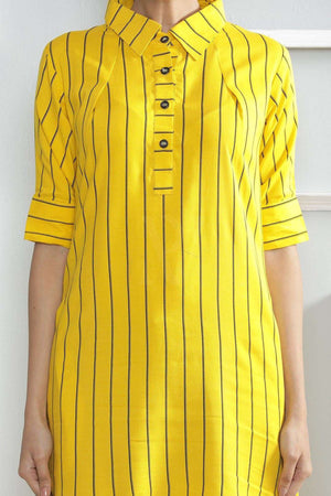 Bright Yellow Kurta