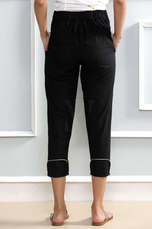 Charcoal Black Tapered Pants