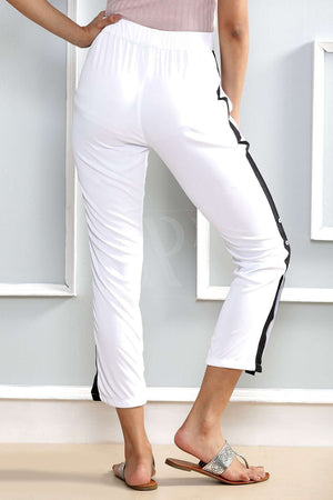 White Slim Fit Pants Rivka Roopkatha - A Story of Art