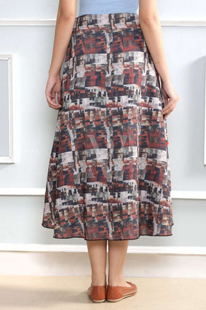 Textured Layered Skirt Rivka Roopkatha - A Story of Art