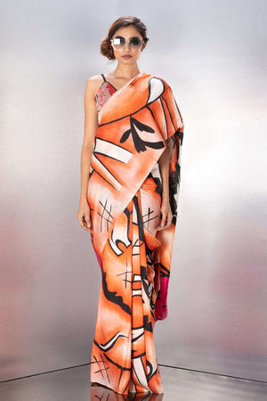 Bishnupuri Silk Saree With Handpainted Art