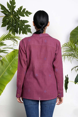 Mulberry Handwoven Cotton Shirt Rivka Roopkatha - A Story of Art