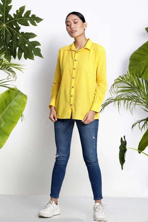 Yellow Handwoven Cotton Shirt