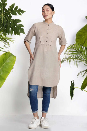 Hazelwood Handwoven Kurta With Pockets Rivka Roopkatha - A Story of Art