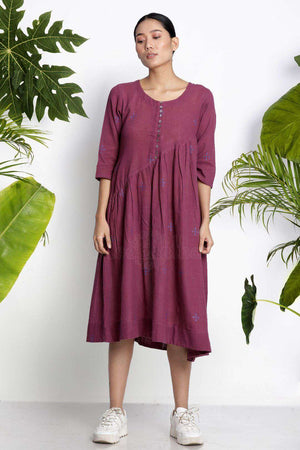 Mulberry Handwoven Kurta With Woven Motifs Rivka Roopkatha - A Story of Art