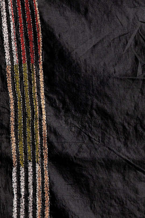 Black Bangalore Silk Saree With Kantha Stitch Kriti Classics Roopkatha - A Story of Art
