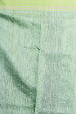 Pale Green matka Silk Saree With Woven Pallu Kriti Classics Roopkatha - A Story of Art
