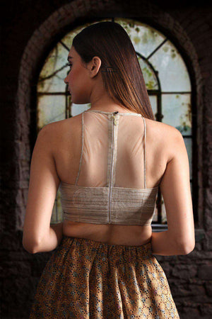 Racer Back With Khadi Silk Blouse Blouse Roopkatha - A Story of Art
