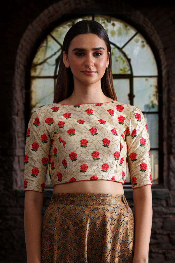 Embroidered Back Dori Blouse Blouse