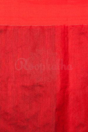 Black Blended Cotton Saree With Red Border