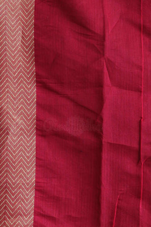 Red Chanderi Cotton Saree With Thread Weave Akasha Roopkatha - A Story of Art