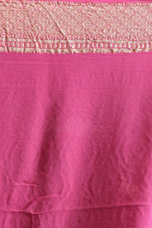 Coral Chiffon Saree With Floral Designs VARANASI CHRONICLES Roopkatha - A Story of Art