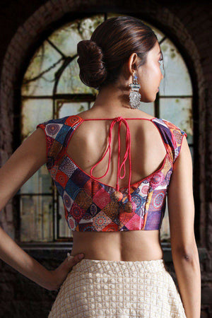 Digital Printed Tussar Blouse Blouse Roopkatha - A Story of Art