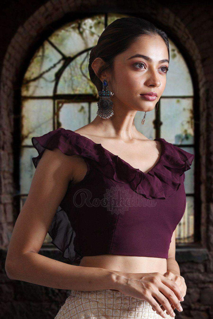 Backless Georgette Blouse Blouse Roopkatha - A Story of Art