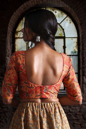 Ajraak Print Back Hook Blouse Blouse Roopkatha - A Story of Art
