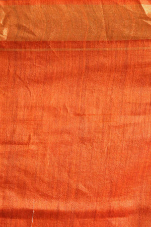 Yellow Tusser Gheecha Silk Saree With Woven Designs Kriti Classics Roopkatha - A Story of Art