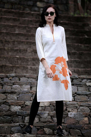 Orange Blossom Cotton Kurta