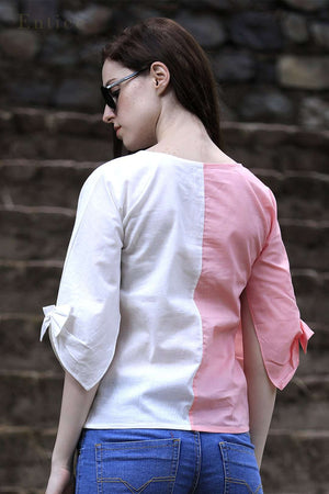 Pink & White Tulip Shirt