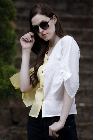 Yellow & White Tulip Shirt