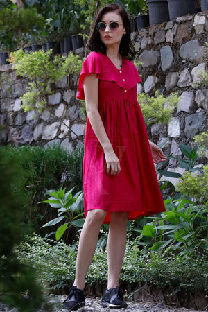Pink Sailor Collar Dress