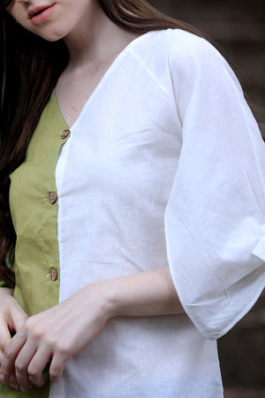 Tulip Shirt in Dual Colour