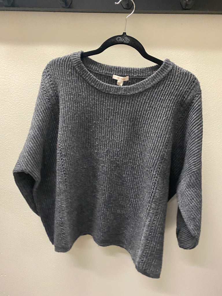 Ribbed Sweater Charcoal